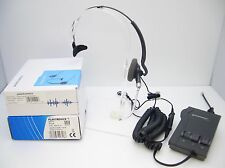 Plantronics H141 DuoSet Convertible Headset + Vista M12 AMP Amplifier for Phones