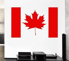Canada Flag Wall Stickers Symbol Maple Leaf Wall Decor Mural Vinyl Decal (ig005)