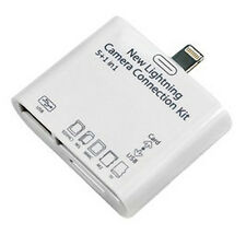 Lightning USB SD/TF Card Reader Adapter Camera Connection Kit f/ Air/iPad 4/Mini
