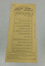 1953 Oregon Motor Stages bus time table McMinnville Newberg Tigard Portland