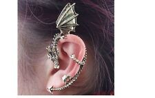 Alchemy BRONZO DRAGO SERPENTE Ear Cuff Clip Wrap Lure Orecchino Gotico Punk Rock UK