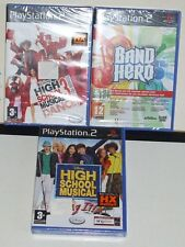 PS2 LOTTO 3 GIOCHI HIGH SCHOOL MUSICAL BAND HERO - PLAYSTATION 2 GAMES NUOVI