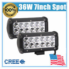 2PCS 36W CREE LED Work Light Bar Fog Trailer Light Spot Offroad Driving Lamp