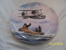Royal Doulton Rescue Role Plate Guardians of the Sea  Plane Life raft