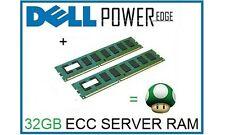 32GB (2x16GB) de actualización de memoria Ram Para Servidores Dell Poweredge R410 y T410 sólo