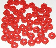 Lego Lot of 50 New Red Technic Gear 16 Tooth with Clutch on Both Sides Gears