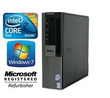 Dell Optiplex 960 Desktop SFF Computer PC Core 2 Duo 3.0GHz Windows 7 500GB Wifi