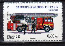Sapeurs-Pompiers superbe timbre autocollant de France, de 2011 neuf,1