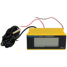 12v mini Digital LCD Thermometer Temperature Meter 4 Fish Tank Freezer W/ Sensor