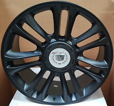 22 Wheels and Tires Matte Black Platinum Rims Fit Cadillac Escalade EXT ESV 24