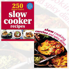 Slow Cooker Recipes 2 Books Collection Set (Slow Cooking Curries) Paperback New