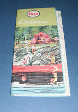1961 Imperial Esso Dealer Road Map of Ontario Canada General Drafting Co.