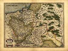 Abraham Ortelius Reproduction Vintage Antique Old Map Poland Lithuania Russia