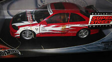 HOT WHEELS 1/18 CUSTOM HONDA CIVIC SI SUPER STREET RED OLD SHOP STOCK