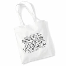 Designer Cotton Tote Bag THE SMITHS Lyrics Art Print Album Poster Shopper Gift
