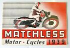 MATCHLESS Motor Cycles Range Sales Brochure 1939 - Clubman, Tourist ++