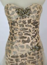 NWT Long Gown Evening Prom Formal Cruise Jovani USA Designer Size 2 Sequin Dress