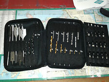 DRILL & BIT SET, SPADE, BRAD POINT, TITANIUM, MASONARY, SCREW TIPS. 5 sets. $25