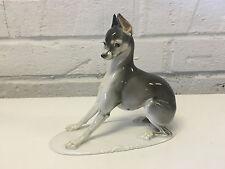 Antique German Rosenthal Porcelain Figurine Miniature Pinscher 42 Karner Design