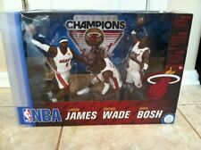 McFarlane NBA Championship 3 Pack, LeBron James, Dwayne Wade & Chris Bosh. NEW.