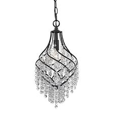 Crystal Drop Mini Chandelier Pendant French Country Vintage Style Light