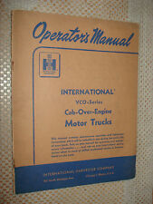1956 INTERNATIONAL VCO CAB OVER TRUCK OWNERS MANUAL GLOVE BOX BOOK RARE IH