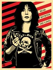 EAT THE RICH Patti Smith shepard fairey obey giant read between the lines