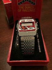 Vintage Original 1981 Dukes of Hazzard General Lee NEW Watch Stainless Steel SS