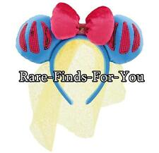 Disney Park Princess Snow White Sequin Minnie Ear Headband with Bow and Veil NEW