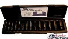 14 Piece Metric 6 Point Deep Impact Socket Set T&E tools new 98414L