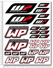 WP White Power shock gabel aufkleber set 24x32cm blatt 26 sticker KTM Duke exc