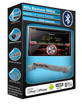 Alfa Romeo Mito CD player, Pioneer car stereo AUX USB, Bluetooth Handsfree kit