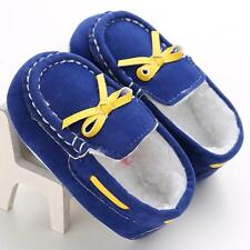 Baby Toddler Crib Shoes Infant Boys Girls Shoes Soft Sole Fleece Moccasin 13 Hot