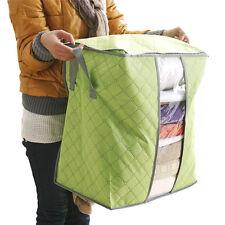 Storage Box Portable Organizer Non Woven Underbed Pouch Storage Bag Box Green
