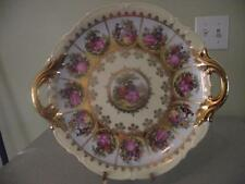 Western Germany Handpainted Heavy Gold Handled Fragonard  Love Story Plate