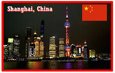 SHANGHAI, CHINA - SOUVENIR JUMBO FRIDGE MAGNET -  BRAND NEW - GIFT