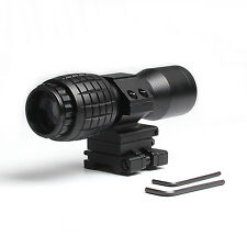 Airsoft 4XMagnifier Scope w/Flip to Side 20mm Rail Mount QD Pivot for Hunting