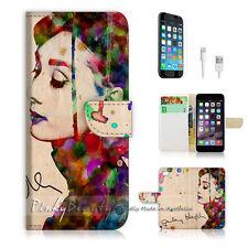 """iPhone 6 (4.7"""") Print Flip Wallet Case Cover! Audrey Hepburn P0032"""