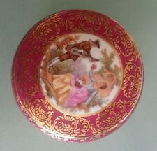 FRAGONARD LA REINE LIMOGES FRANCE JEWELLERY TRINKET BOX RED GOLD  PORCELAIN NWOT