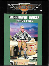 Warriors Wehrmacht Tanker Tropical Dress Resin Figures Soldier 1/35 Scale 35293