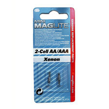 MINI MAGLITE AA XENON REPLACEMENT LAMP, BULB, 2 PCS.