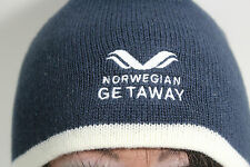 Norwegian Getaway Black Beanie Knit Skull Cap Warm Ski Hat Snow Winter