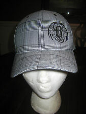 BUSTOUT POKER BAR Ball Cap in Black White Plaid Size Small to Medium New