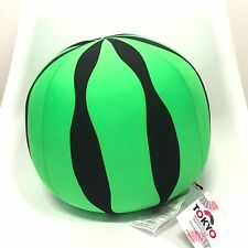 Tokyo Japanese Soft Cute Watermelon Bead Cushion Plush Stuffed Toy 10""