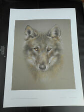 JOEL KIRK LARGE LIMITED EDITION PRINT SIBERIAN HUSKY DOG VGC LOW POST