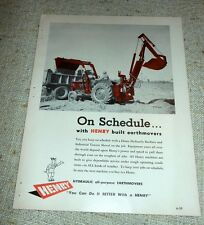 Brochure Macchine agricole - On Schedule with HENRY built earthmovers 1960 ca