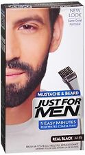 JUST FOR MEN Color Gel Mustache - Beard M-55 Real Black 1 Each (Pack of 9)