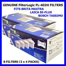 PACK OF 8 FILTERLOGIC H-FLOW CARTRIDGES TO FIT BRITA MAXTRA & LAICA BI-FLUX