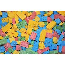 1/2 HALF LB POUND CANDY LEGO BLOCKS BLOX GOODY BAGS PARTY FAVORS CAKE TOPPERS
