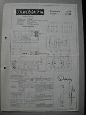 LOEWE OPTA Typ 52019 Rheinperle, 52202 Luzern Schaltplan, Stand 05/63
